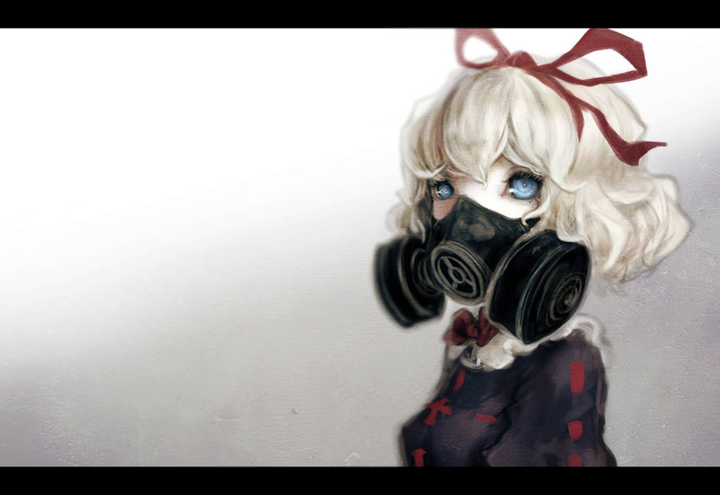 Cute Anime Mask (Red Bow)
