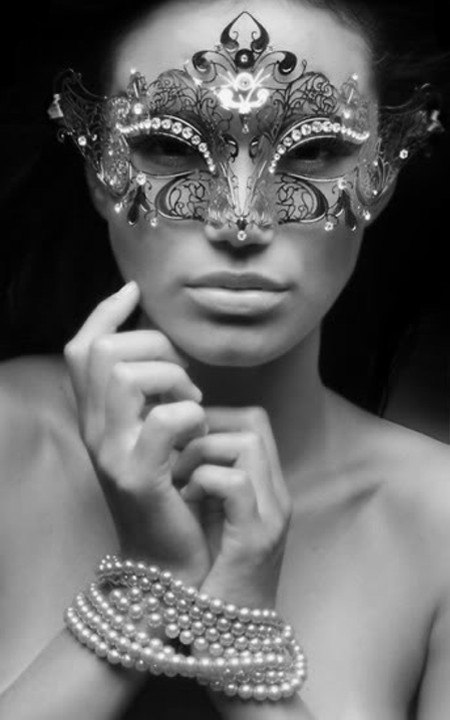 Sexy Mask and Pearls